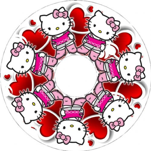 HELLO KITTY Wheelchair Spoke Guard Sticker Skins